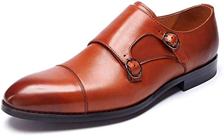 Scarpe da Uomo Uomo Uomo in Pelle Business Gomma Traspirante Fibbia da Indossare Brock,rosso-Marronee-38 | Sale Italia  22ab63