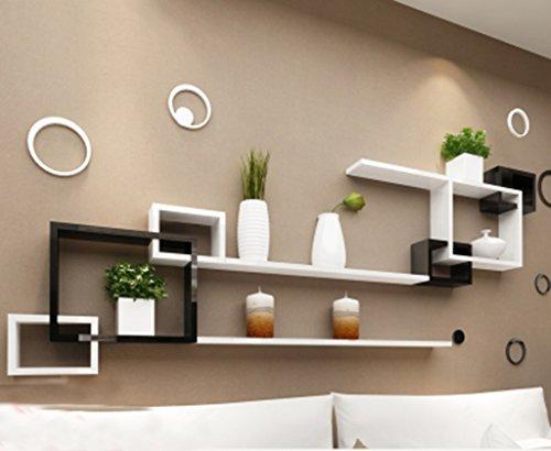 Mensole da parete galleggiante a parete lattice living room tv backdrop cabinet