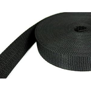 10m PP Gurtband - 30mm breit - 1,2mm stark - schwarz (UV)