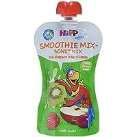 Hipp Kinder Früchte im Quetschbeutel - Smoothie Mix - sonst nix, Kiwi-Himbeere in Apfel-Traube, 6er Pack (6 x 120 ml)