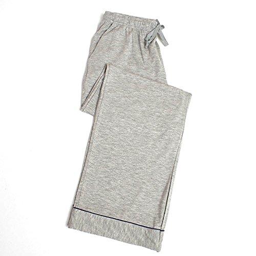 VENIMASEE Damen Übergröße Plüsch Cosy Loose Fleece Modal Lounge Pyjama Hose L-4XL - Gray