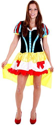 erdbeerloft - Damen Karneval Kostüm- Schneewittchen Märchenfigur mit Schleppe, schwarz gold, 36-40