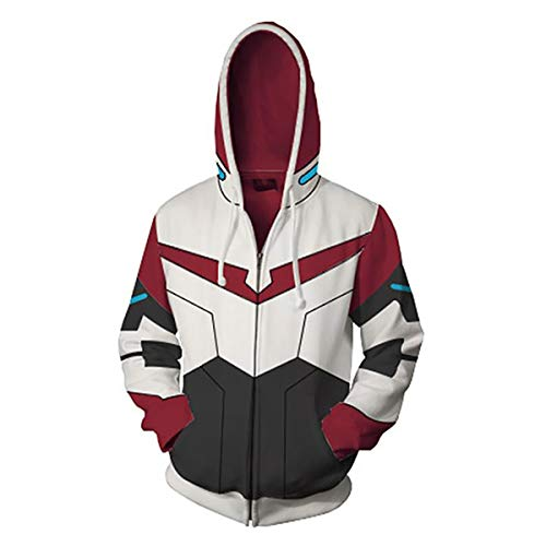 W&TT 3D bedruckter Hoodie Unisex, Zipper Cardigan Hooded Sweatshirt Cosplay ()