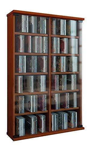 VCM Regal DVD CD Rack Turm Medienregal Medienschrank Aufbewahrung Schrank Holz Standregal Möbel in 6 Farben