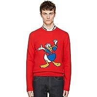 ECTIC Men's Knitting Donald Duck Wool Sweaters Sweatshirts G9952