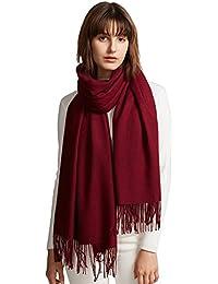 MaaMgic Ladies bufandas de invierno Sólido Color Súper Suave Cálido y Grueso Bufanda Chal Wraps para Boda Mujeres Estolas