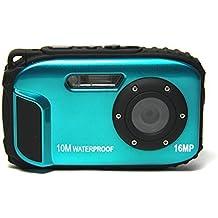 Appareil Photo Etanche numérique Stoga CGT002 2,7 Pouces LCD Appareil photo Numerique 16MP Camescope Etanche Camera Zoom video Magnetoscope + 8 X Zoom Free Shipping Action Cam-bleu