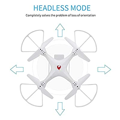 H6 Headless Mode Drone, One Key Return Altitude Hold 360 Degrees Rolling 6-axle Gyroscope Quadcopter with LED Light Remote Control Aircraft the Gift for Children Kids