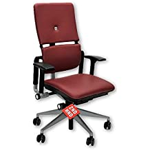 STEELCASE PLEASE V2 NEW BURGANDY LEATHER CHAIR