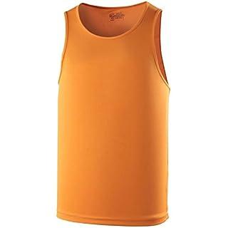 AWD Herren-Unterhemd, sportliche Passform, atmungsaktiv, orange