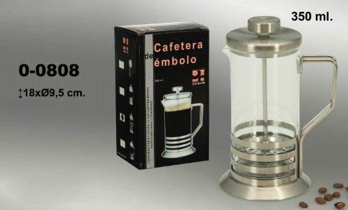 DonRegaloWeb - Cafetera de émbolo de cristal y metal de 350 ml de capacidad