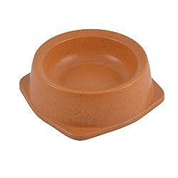 Generic Round Shaped Pet Cat Dog Doggy Feeder Bowl Dish 300ml Capacity Orange