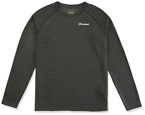berghaus Herren Thermal Tech Crew Neck T-Shirt, Duffel Bag/Chive, XL - Mens Crew Neck Thermal