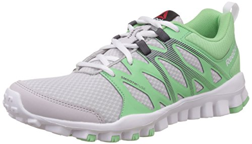 Reebok Damen Realflex Train 4.0 Laufschuhe, Grau (Steel/Seafoam Green/Ash Grey/White), 38 EU