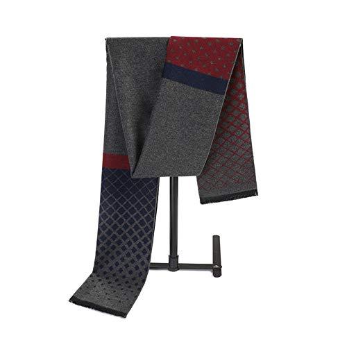 Easy Go Shopping New Herren Herbst Winter Mix Farbe Weiche Schal Lange Große Bequeme Schal Kleidung Accosseries Geeignet Für Formale Anlässe (Farbe : Red+Grey) Formale Schal