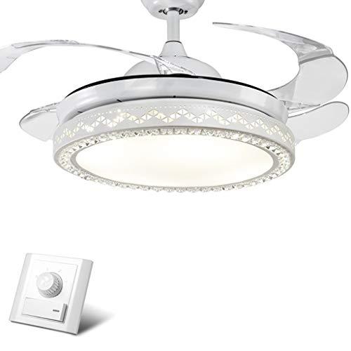 TXDZ Ventiladores de techo invisibles con lámpara, luces de ventilador LED Araña...
