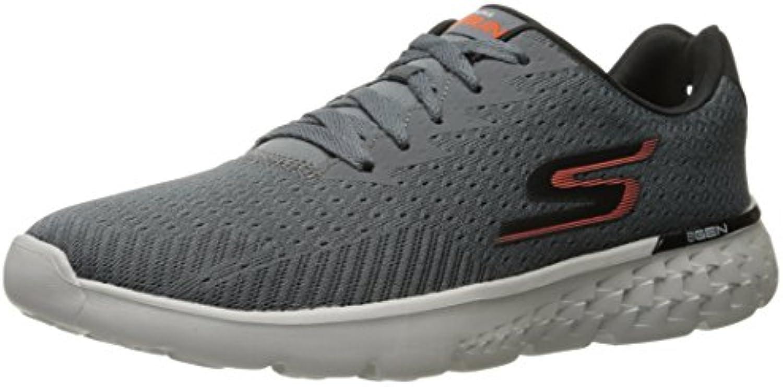 Skechers Go Run 400 Generate 54354   Charcoal Orange