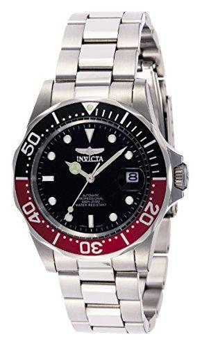 Invicta 9403 Pro Diver Unisex Uhr Edelstahl Automatik schwarzen Zifferblat (Männer Für Invicta Uhr)