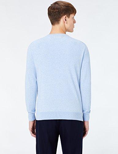 ... MERAKI Baumwoll-Pullover Herren mit Rundhals Blau (Ocean Blue)