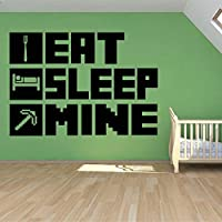 EAT Sleep Gaming Poster Wall Sticker for Kid Room Decoration Mural Vinyl Wall Decal Home Bedroom Decor 57x77cm