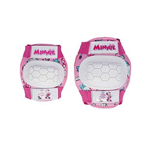 Disney Minnie, Kit Protezioni da Ciclismo Bambina, Rosa, XS (3-6 Anni)