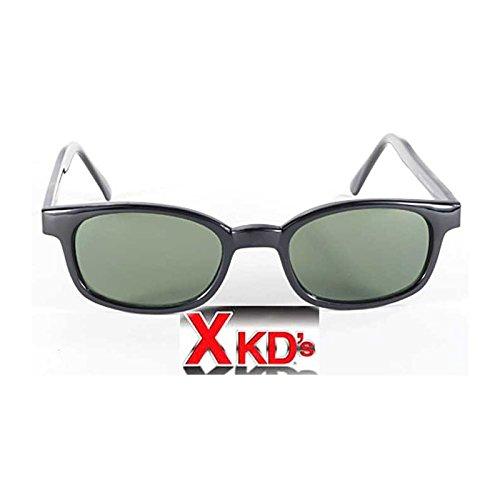 Pacific Coast X Kd Big Sonnenbrille Original-Harley Biker Shades Grün 1126 Medium Schwarz
