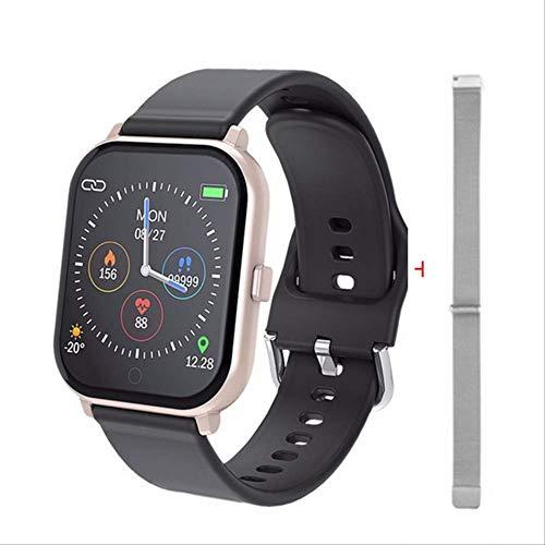GGOII Intelligente Uhr Frauen Smart Watch Android Ios Uhren Sport wasserdicht Fitness Armband ausgeführt Armband Männer SmartWatch für iPhone pk P70 B57Gold mit Stahl