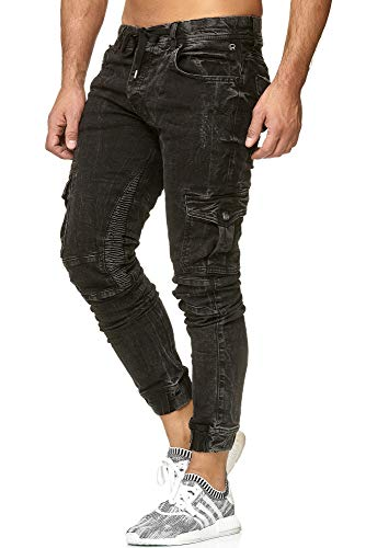 0530bcddc0ef2 Redbridge Homme Pantalon de Jogging Slim-Fit Relaxe Mode Denim Jeans