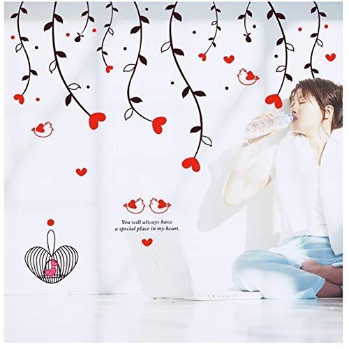 e Rote Liebe Herz Abnehmbare Wandaufkleber Ausgangsdekorwandkunst Liebe Hochzeit Dekoration Mittelstücke Familie Aufkleber ()
