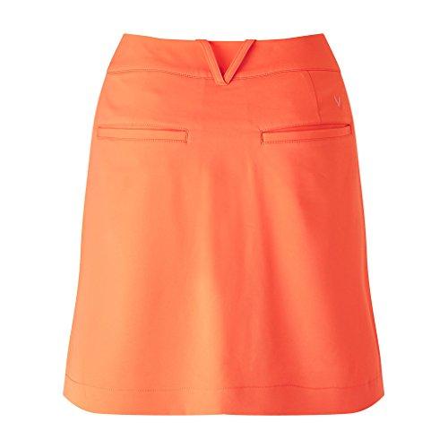 Callaway 18Woven Jupe de Golf, Femme, 18 Woven, Orange, 8
