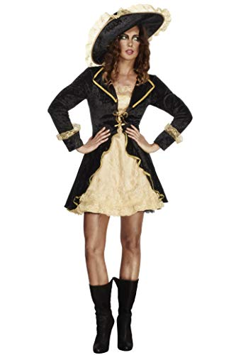 Fever, Damen Säbelrassler Kostüm, Kleid mit angebrachter Jacke und Hut, Größe: M, 27072