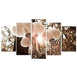 5 Pannello HD Stampato Moderna Pittura Funghi Paesaggio Decorazione Modulare Poster Immagine su Tela Wall Art Home Soggiorno,A,20×30×2+20×40×2+20×50×1cm