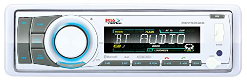Boss Audio MR752UAB Boss Marine Single Din Receiver Bluetooth CD/MP3 USB/SD Remote -