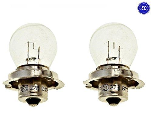 2x Glühlampe P26s 12V 15W - Lampe für Roller Scheinwerfer - Roller Scheinwerfer Für