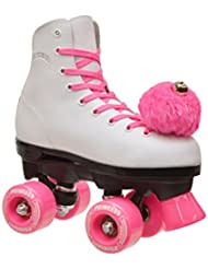Epic patines rosa princesa niñas Quad patines, blanco