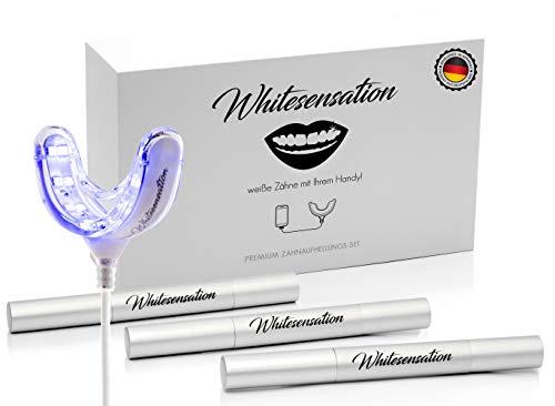 Whitesensation Zahnaufhellung Set - Professionelles Bleaching für weiße Zähne - Teeth Whitening Kit - Homebleaching - 14 Tage Geld zurück Garantie -