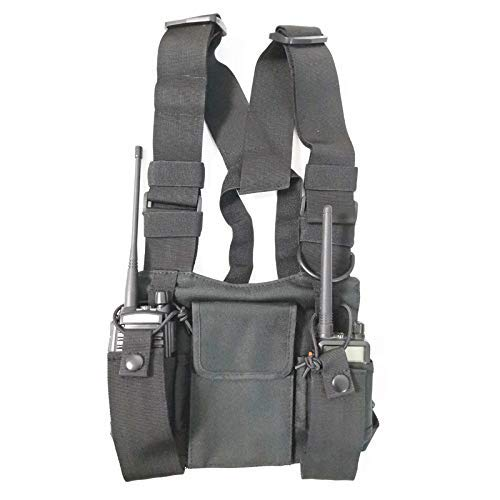 radtel Front Pack Pouch Vest Rig Chest Bag Carry Case for Baofeng Two Way Radio UV-5R BF-F8HP UV-82 TYT Motorola Midland
