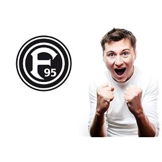 Wandtattoo – Fortuna Düsseldorf Logo, 38 cm Durchmesser, schwarz