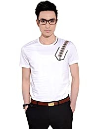 SSLR Men's Summer Cotton Short Sleeve Casual T Shirts