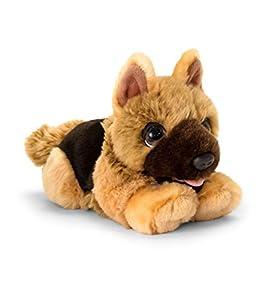 Keel Toys SD2532 - Peluche de Cachorro Alsatian, Color Negro, marrón