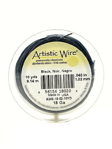 Artistic Wire Spools 10 yd. black 18 gauge by Artistic Wire (Gauge Spool 4)