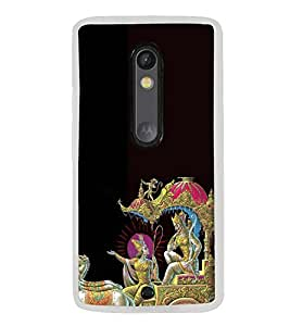 ifasho Designer Phone Back Case Cover Motorola Moto X Play ( Deer Face Classic Look animal )