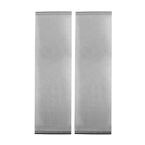 JAROLIFT Insektenschutz-Vorhang Arioso | 2x 75 x 220 cm, schwarz