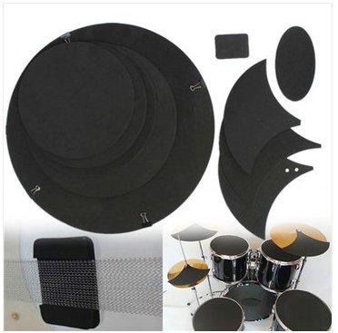 photizo 100Bass Snare Drum Sound Off Mute Schalldämpfer Trommeln Gummi-Übungspad-Set