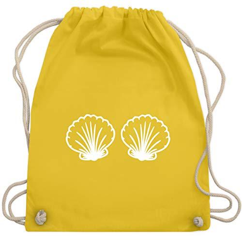 Karneval & Fasching - Meerjungfrau Kostüm weiß - Unisize - Gelb - WM110 - Turnbeutel & Gym Bag (Erwachsene Meerjungfrau Kostüm Ideen)