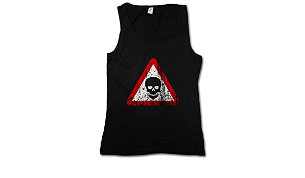 Skull sign tank top gothique horreur ARMY METAL glamour rock tatouage tribal