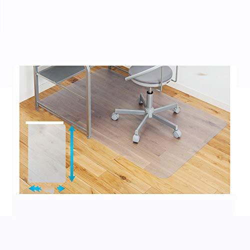VIVOCCarpet Transparent PVC Office Stuhl-Matte Pad, Floor Protector Fußmatten Tabelle Tuch Anti-rutsch Multi-Purpose Für zuhause Office Computer Für Teppich-C 100x130cm(39x51inch)