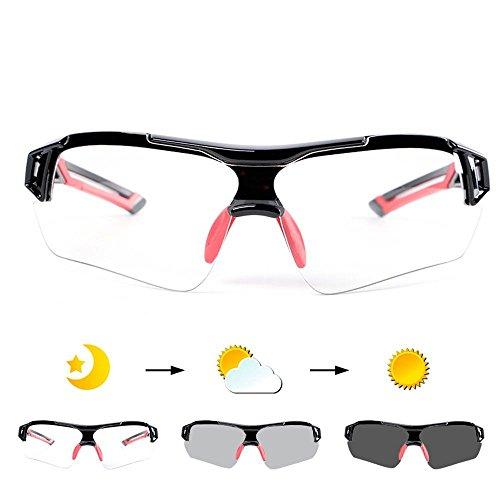 Fahrradbrille Uvex, Weant Polarisiert SportbrilleKlar Sonnenbrillen Männer Optische Sonnenbrille Für Herren und Damen Radsport Brille Für Reiten Fahren Angeln Laufen Sport-schutz Skibrille (Blau) - 4