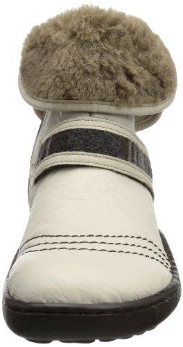 Rieker 92462-62 Damen Halbschaft Stiefel Beige (crema/crema/braun-grau/marron / 62)