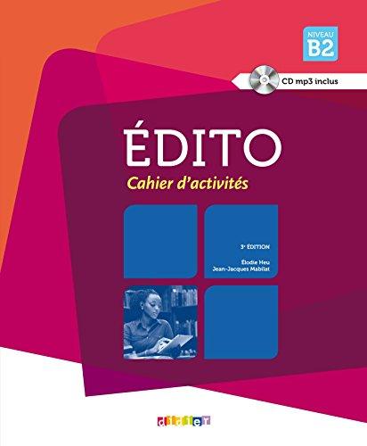 Edito niv.B2 - 2015 - Cahier + CD par Jean-Jacques Mabilat